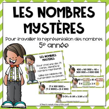 Les nombres mystères - 5e année