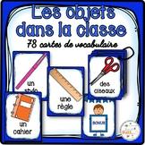 Les objets dans la classe - 78 cartes de vocabulaire