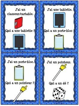Les objets dans la classe - Ensemble - French Classroom objects bundle