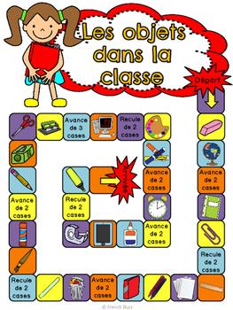 Les objets dans la classe - jeu de société - French classroom objects