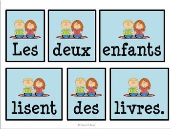 Les objets dans la classe - phrases mêlées
