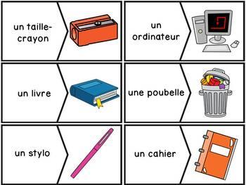 Les objets dans la classe - puzzles - French Classroom Objects