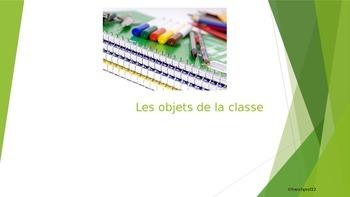Les objets de la classe powerpoint French classroom objects