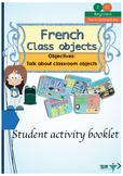 French school objects, les objects de la classe booklet for beginners