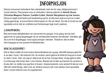 Les og forstå faktatekster! Viktige personer i norsk historie 1