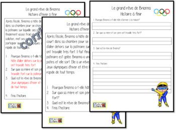 LES JEUX D'HIVER - 2 histoires à finir (French FSL)