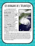 Les ouragans de l'Atlantique - Compréhension de lecture
