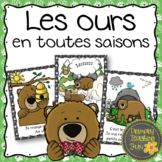 Les ours:  Bears, French emergent reader, guided reading, and worksheets!