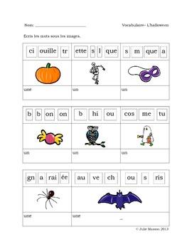 Les pages d'activités «construction de mots» : l'halloween