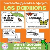 Les papillons ~ Le cycle de vie du papillon ~French Butterfly Reader & Lifecycle