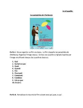 Les parapluies de Cherbourg - Film preview activities