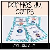 """Les Parties du Corps - Jeu """"J'ai...Qui a...?"""""""