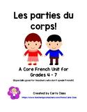Les parties du corps: A Core French Unit