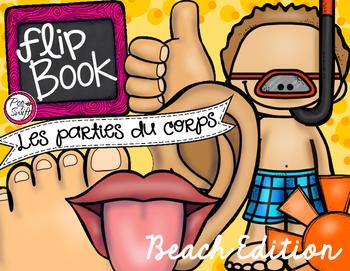 Les parties du corps - Flip Book {Beach Edition}
