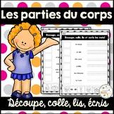 Les parties du corps - French Body Parts - Découpe et colle