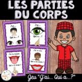 """Les parties du corps - French Body Parts - Jeu """"j'ai... qui a...?"""""""