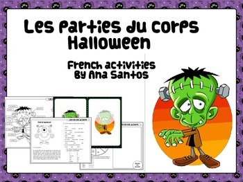 Les parties du corps- Halloween activities in French