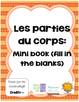 Les parties du corps! Mini book (FRENCH)