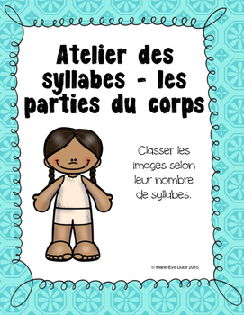 Les parties du corps - Syllabes