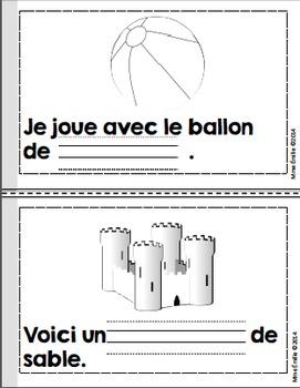 French Emergent reader June mini-books/Les petits livres du mois de juin