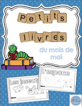 French Emergent reader May mini-books/Les petits livres du mois de mai