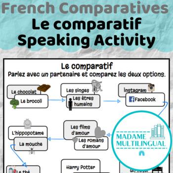Les comparatifs | Speaking Activity en français