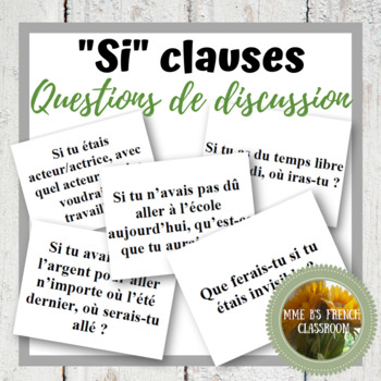 Les phrases conditionnelles: Questions de discussion (D'accord 3, Leçon 10)