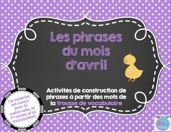 Les phrases du mois d'avril/ French sentences Month of April