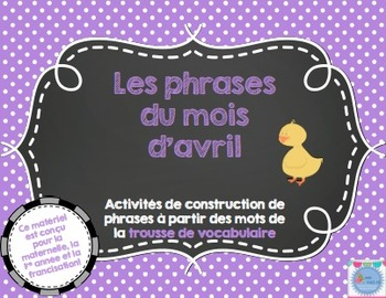 Les phrases du mois d'avril/ French sentences Month of April