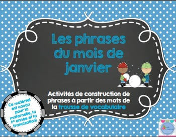 Les phrases du mois de Janvier/ French sentences of January