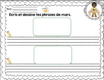 Les phrases du mois de Mars/ French sentences of March