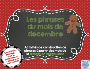 Les phrases du mois de décembre/ French sentences of December