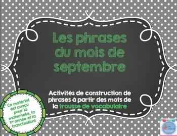 Les phrases du mois de septembre/ French sentences of September