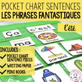Phrases fantastiques - L'été (FRENCH Summer Pocket Chart S