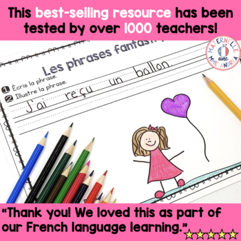 Phrases fantastiques - La Saint-Valentin (FRENCH Pocket Chart Sentences)