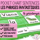 Les phrases fantastiques - Le printemps (FRENCH Spring Pocket Chart Sentences)