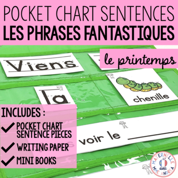 Les phrases fantastiques - Le printemps (FRENCH Spring Pocket Chart Sentences)