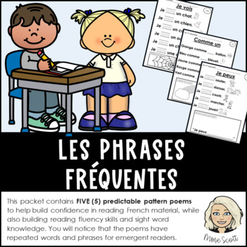 Les phrases frequents - Predictable sight word poems in French