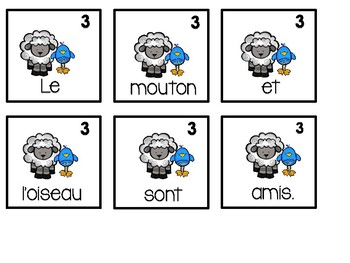 Les phrases melees - Mixed Up Sentences -  Pâques!