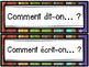 Les phrases utiles dans la classe de français - Rentrée - French Back to School