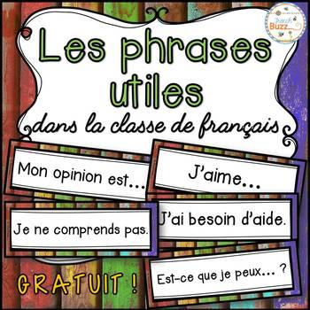 Les phrases utiles dans la classe de français - French sen
