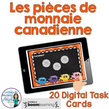 Les pièces de monnaie canadienne: French Money Digital Task Cards - BOOM CARDS