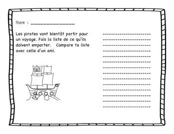 Les pirates: activités de maths et littératie