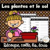 Les plantes et le sol - Découpe et colle - French Plants and Soil
