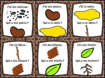 """Les plantes et le sol - jeu """"j'ai... qui a...?"""" - French Plants and Soil"""