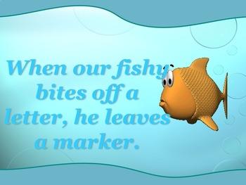Les poissons mangent les lettres avec l'apostrophe