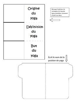 Les positions du yoga - 4e année