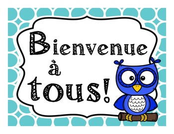Les posters de bienvenue - French welcome posters