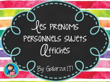 Les prenoms personnels sujets-Affiches, French Personal Pr