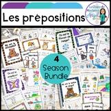 Les prépositions:  4 Season French Prepositions Mini-Unit BUNDLE